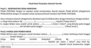 Pasal-Pasal-Perjanjian-Kontrak-Rumah