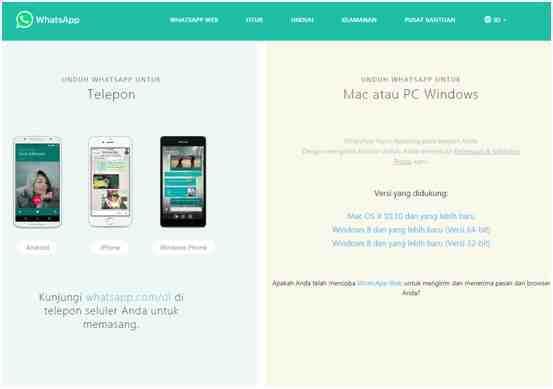 Aplikasi WhatsApp Web untuk Komputer atau Laptop