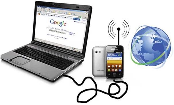 Cara Menyambungkan Internet Android ke Komputer Dengan Kabel Data