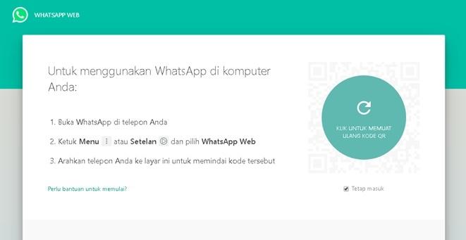 Web WhatsApp - Tetap Masuk