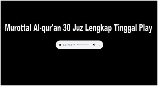 Murottal Alqur'an 30 Juz Lengkap Tinggal Play