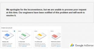 """Cara Lain Mengatasi Pesan """"We apologize for the inconvenience…"""" dari Google Adsense"""
